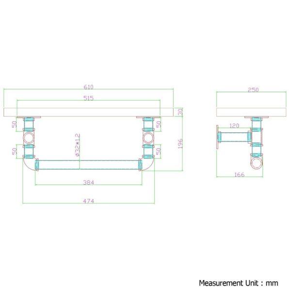 PIPE-61-1LVL-RACK-01